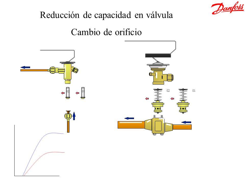 Reducción de capacidad en válvula