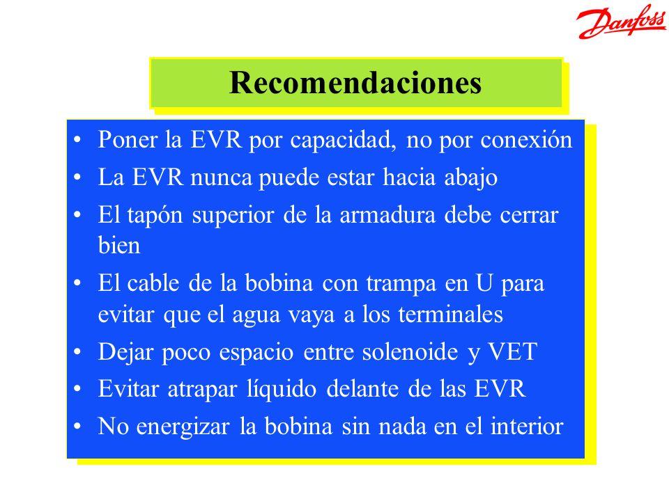 Recomendaciones Poner la EVR por capacidad, no por conexión