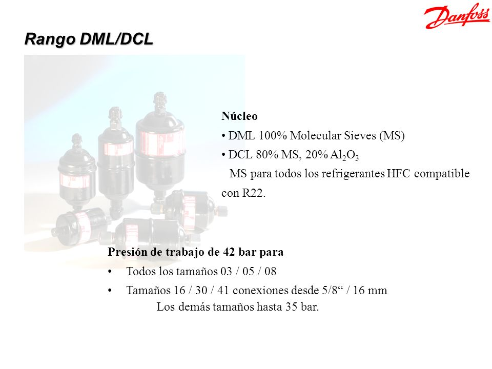 Rango DML/DCL Núcleo DML 100% Molecular Sieves (MS)