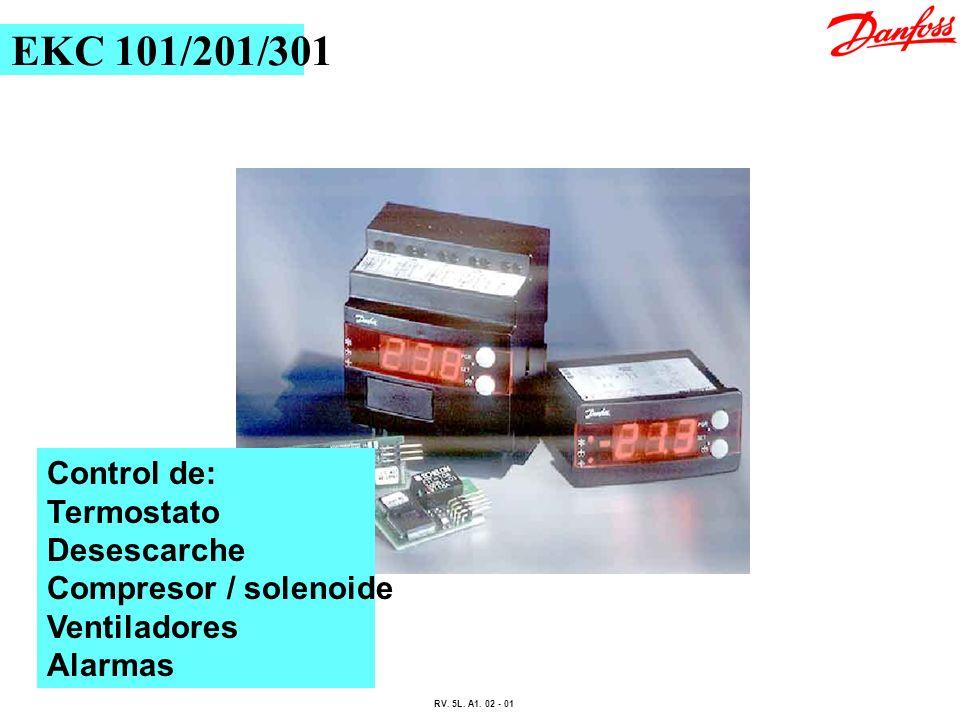 EKC 101/201/301 Control de: Termostato Desescarche