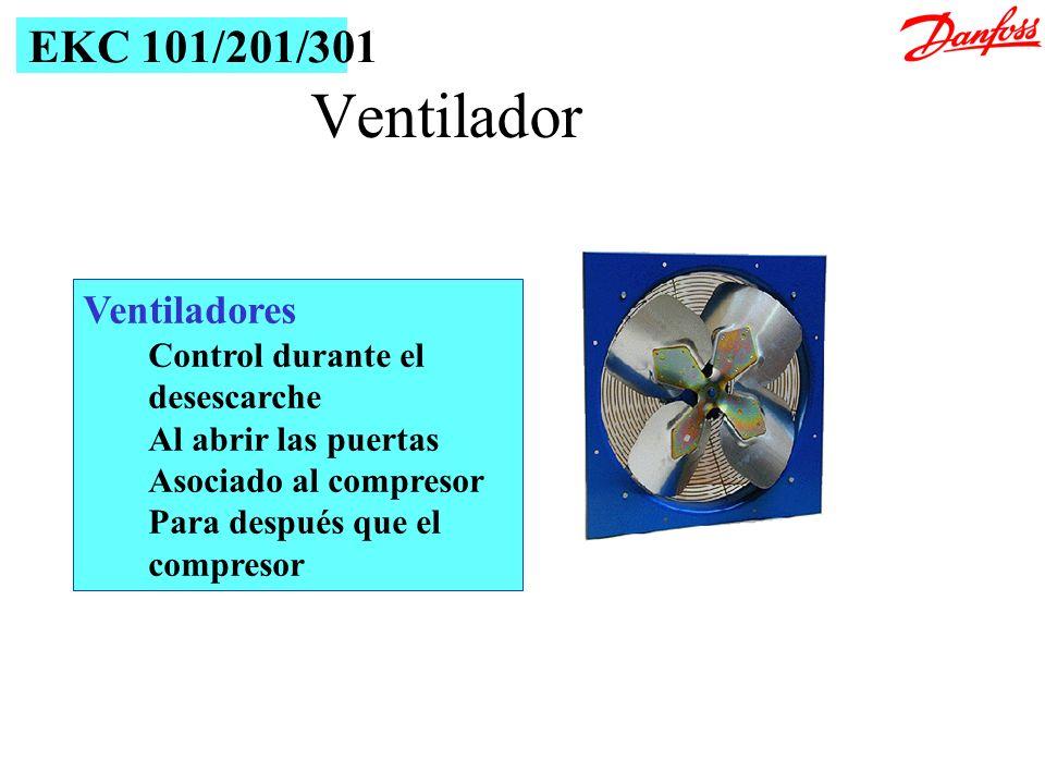 Ventilador EKC 101/201/301 Ventiladores Control durante el desescarche