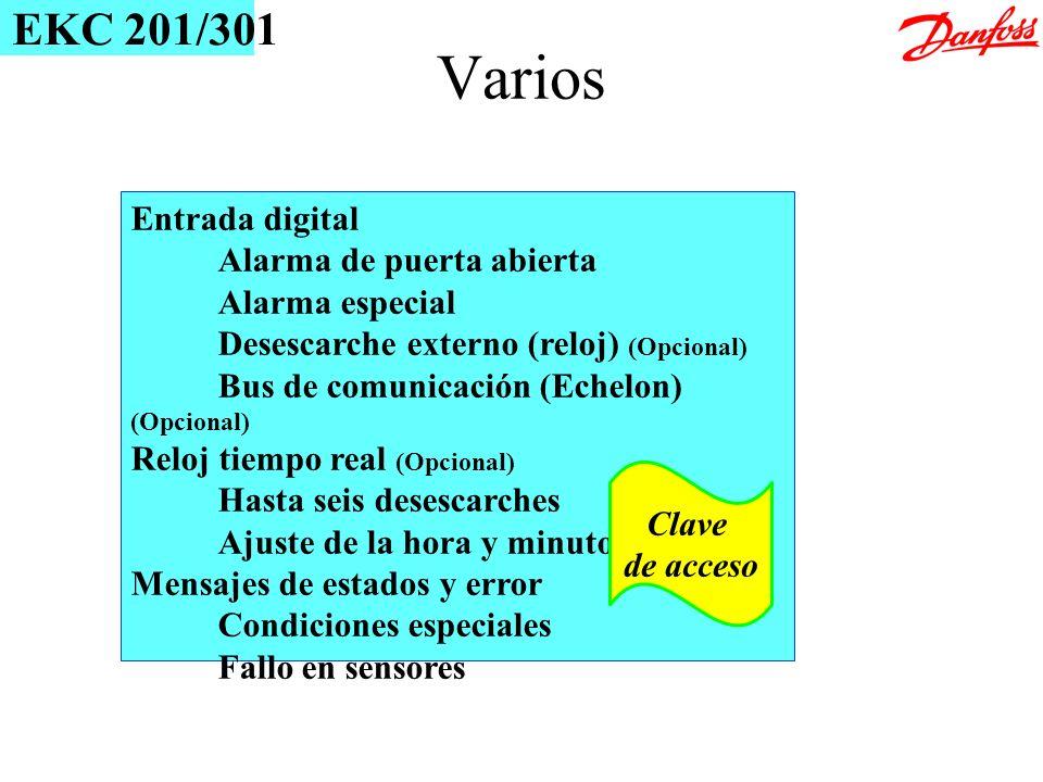 Varios EKC 201/301 Entrada digital Alarma de puerta abierta