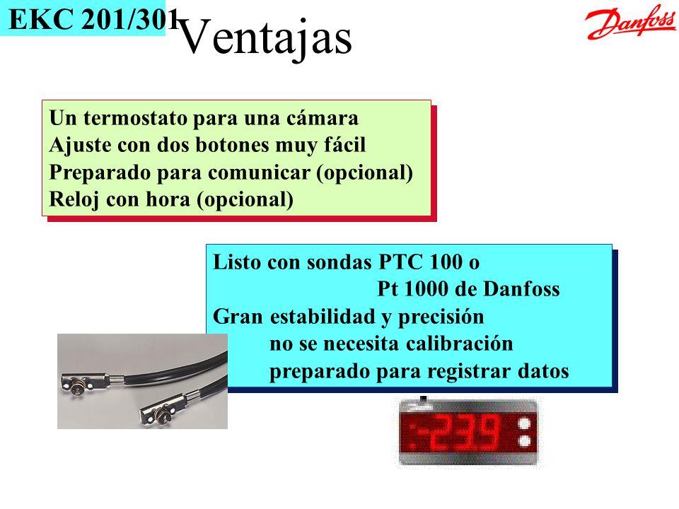 Ventajas EKC 201/301 Un termostato para una cámara