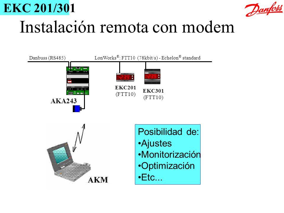 Instalación remota con modem