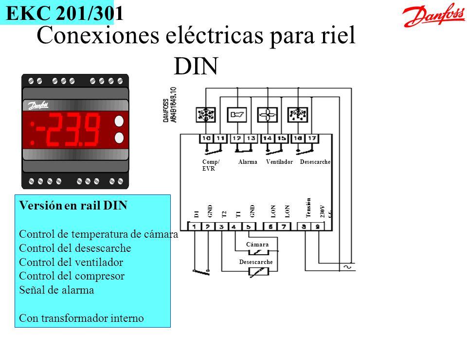 Conexiones eléctricas para riel DIN