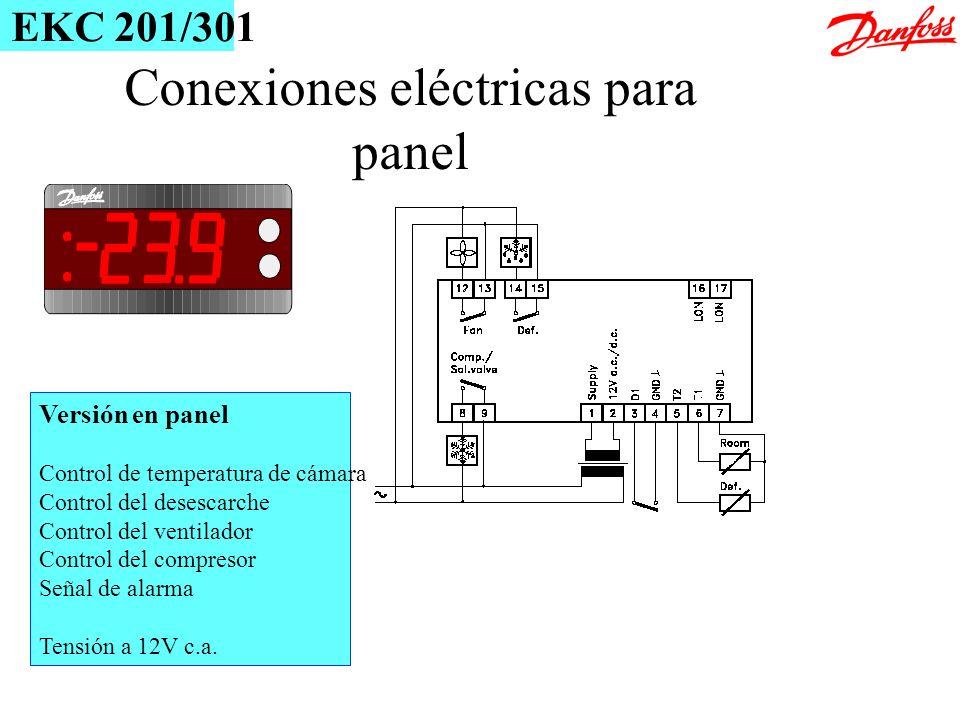 Conexiones eléctricas para panel