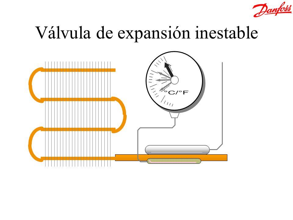 Válvula de expansión inestable