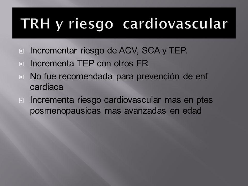 TRH y riesgo cardiovascular