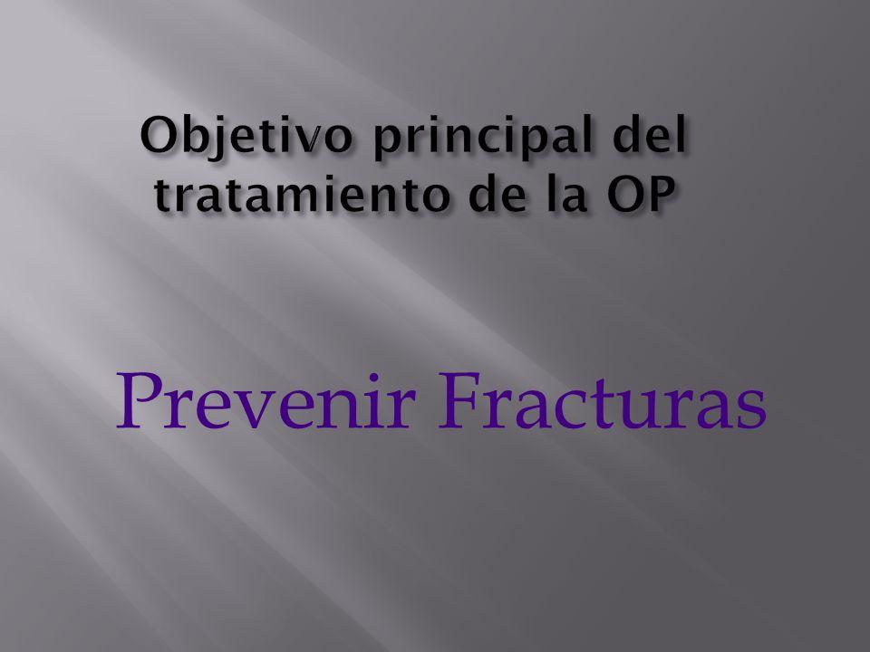 Objetivo principal del tratamiento de la OP