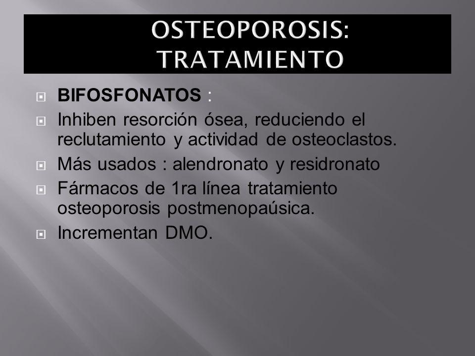 OSTEOPOROSIS: TRATAMIENTO