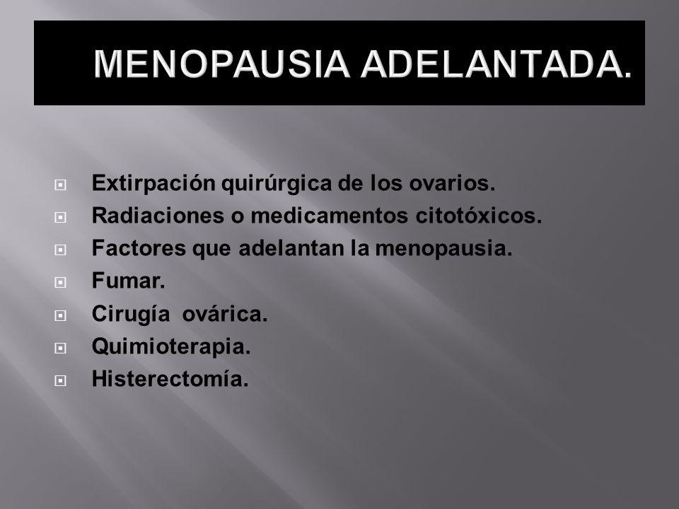 MENOPAUSIA ADELANTADA.