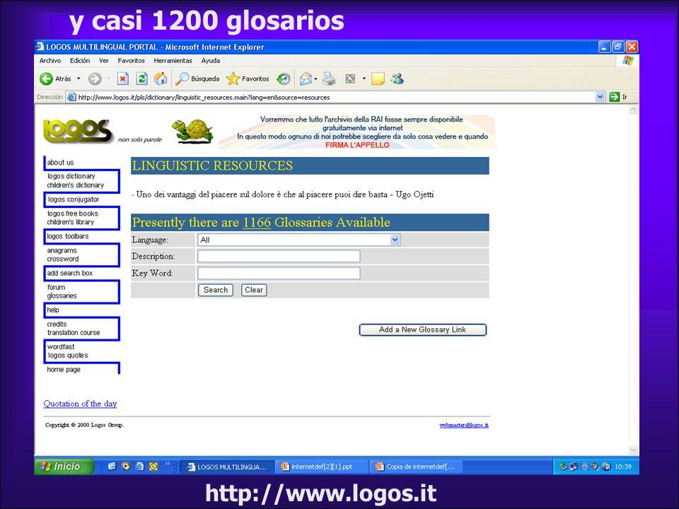 y casi 1200 glosarios http://www.logos.it