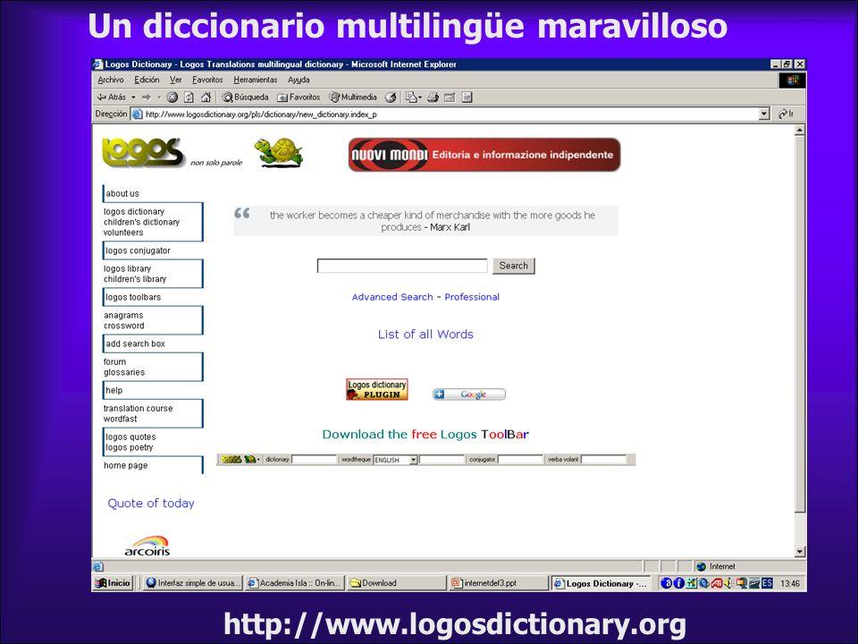 Un diccionario multilingüe maravilloso