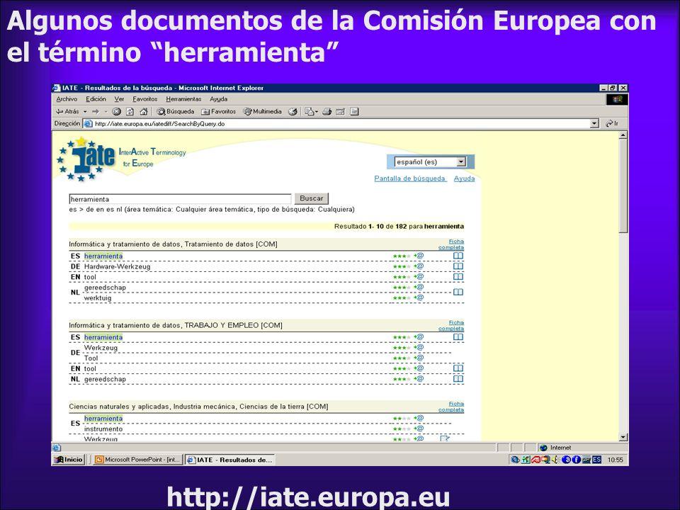 Algunos documentos de la Comisión Europea con