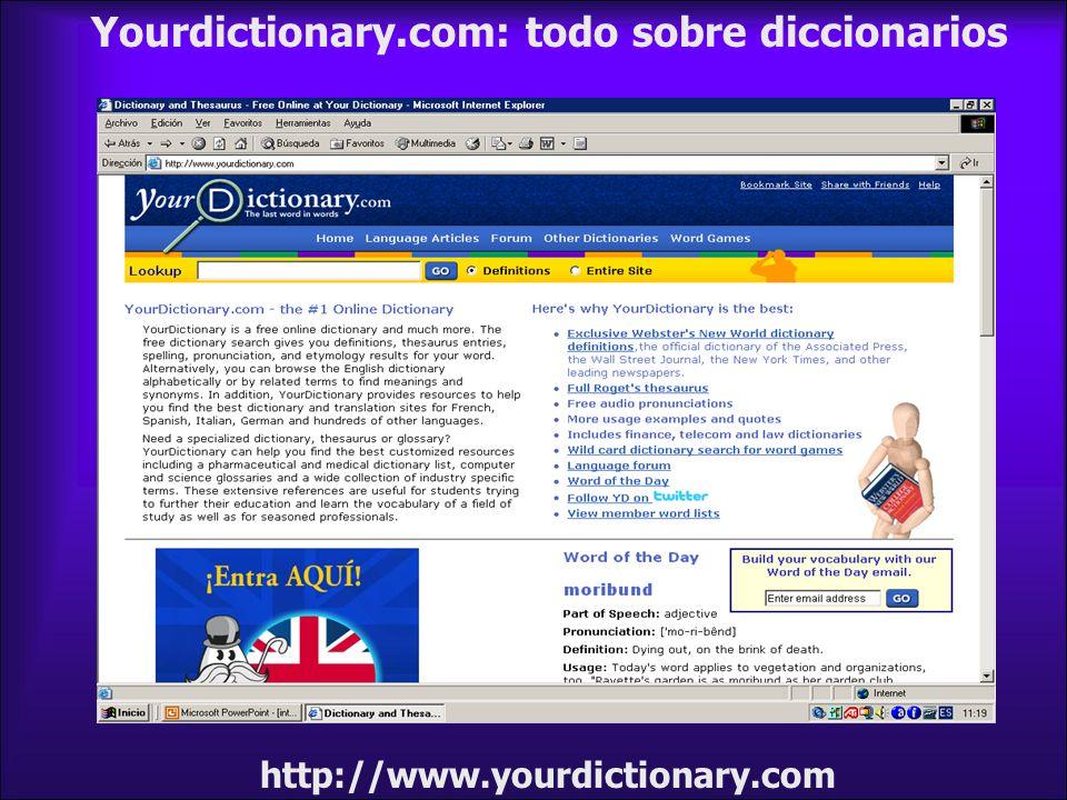 Yourdictionary.com: todo sobre diccionarios