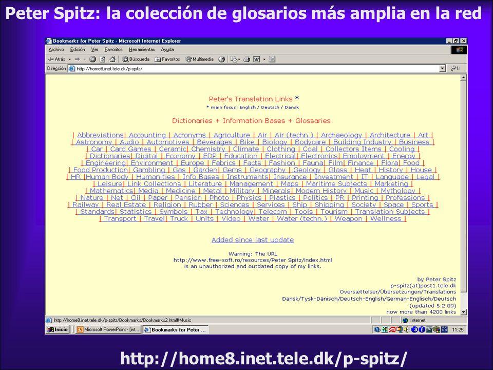 Peter Spitz: la colección de glosarios más amplia en la red