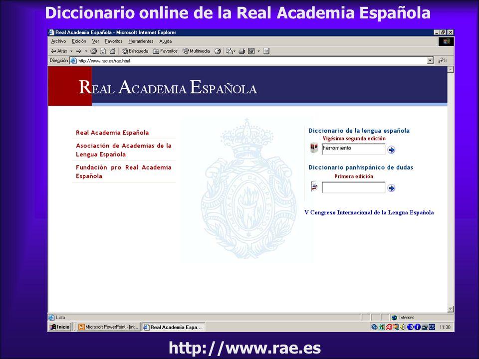 Diccionario online de la Real Academia Española