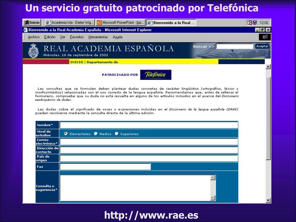 Un servicio gratuito patrocinado por Telefónica