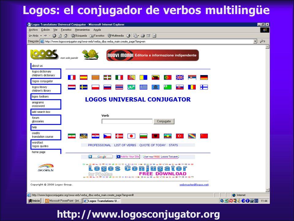 Logos: el conjugador de verbos multilingüe