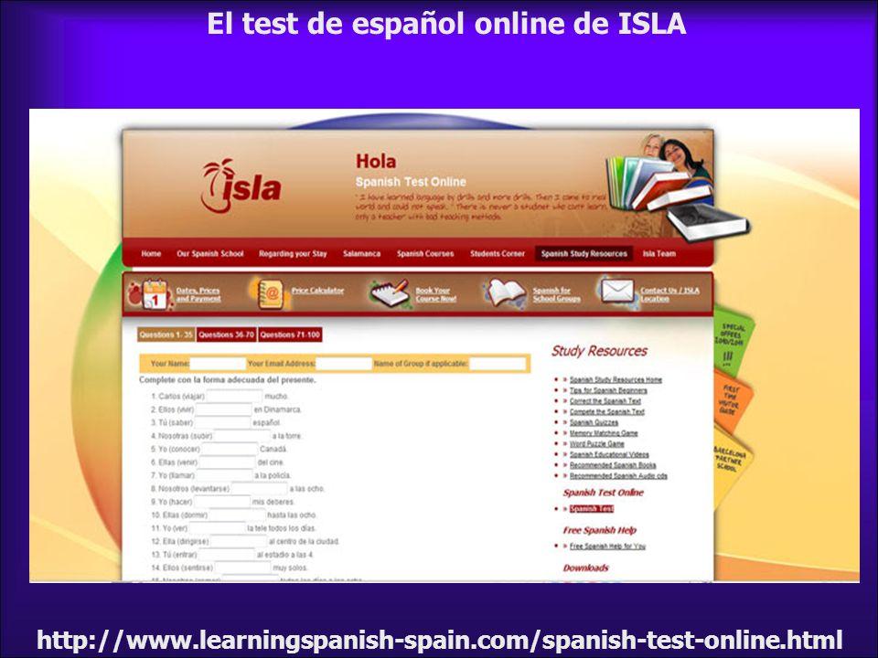 El test de español online de ISLA