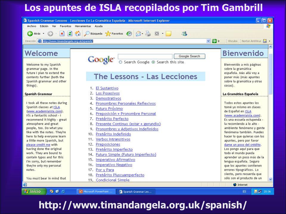 Los apuntes de ISLA recopilados por Tim Gambrill