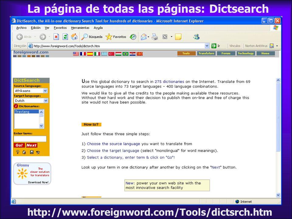 La página de todas las páginas: Dictsearch