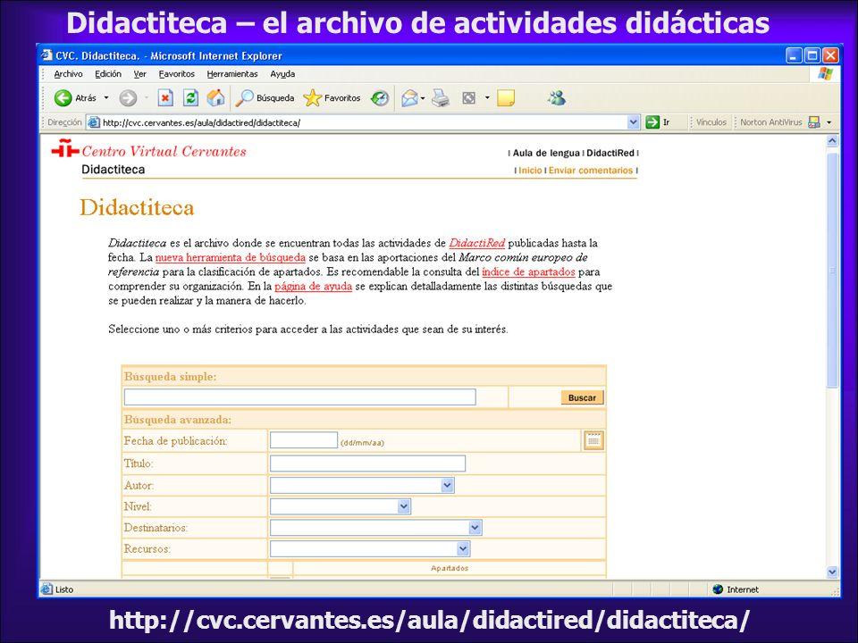 Didactiteca – el archivo de actividades didácticas