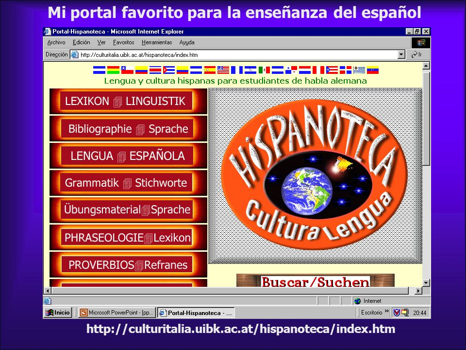 Mi portal favorito para la enseñanza del español