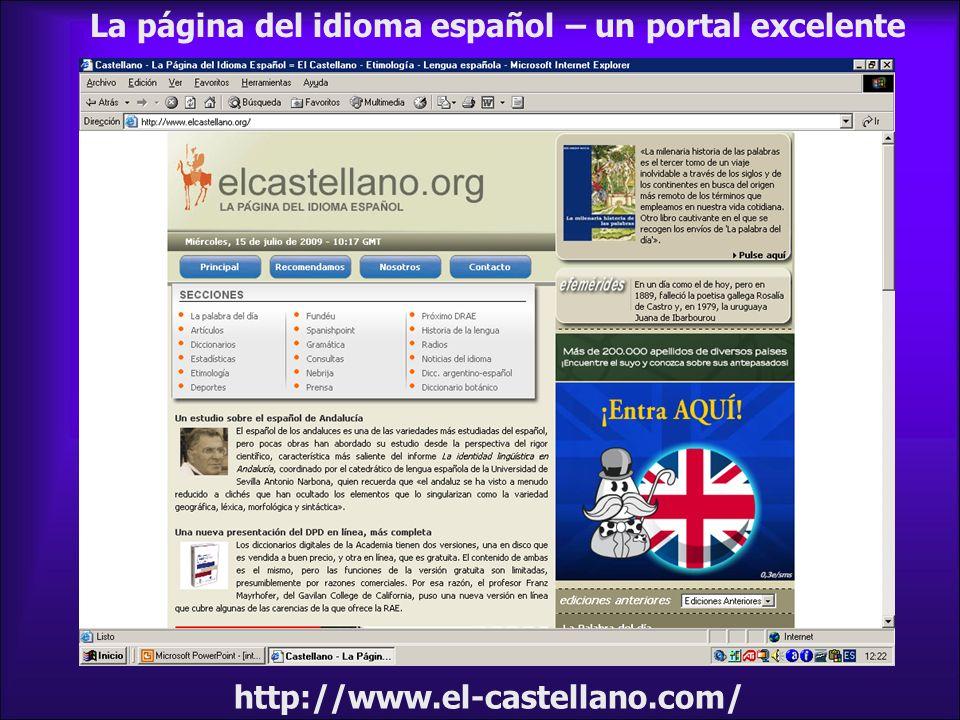 La página del idioma español – un portal excelente