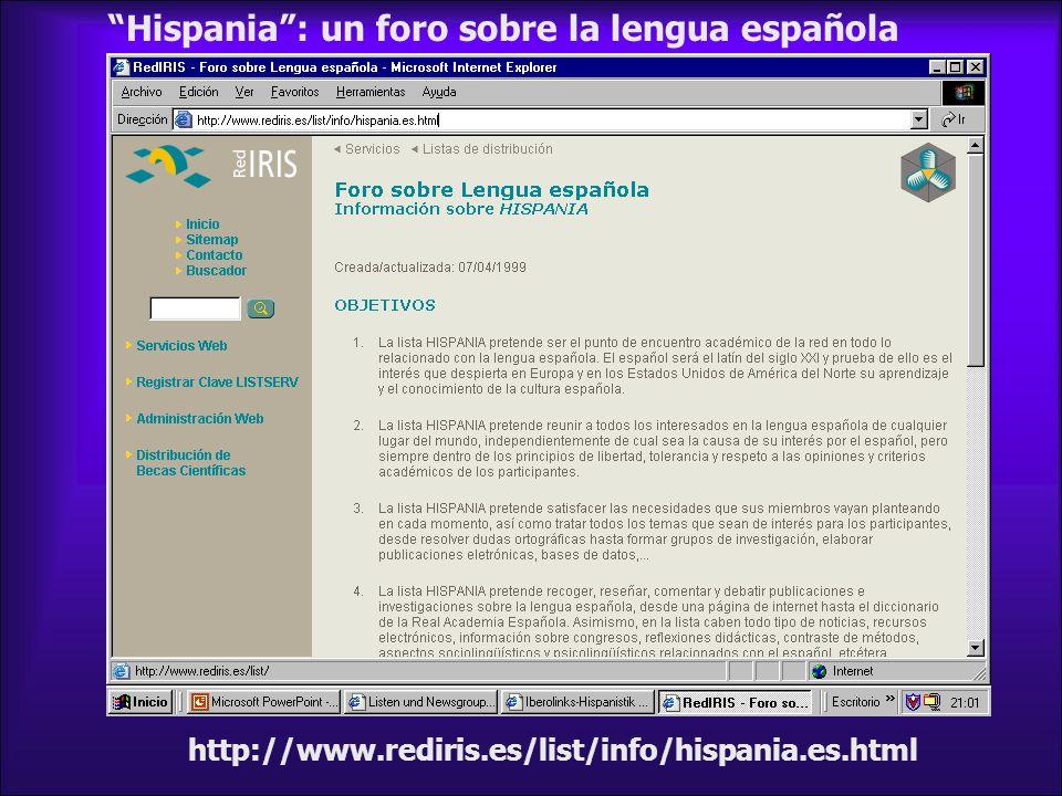 Hispania : un foro sobre la lengua española