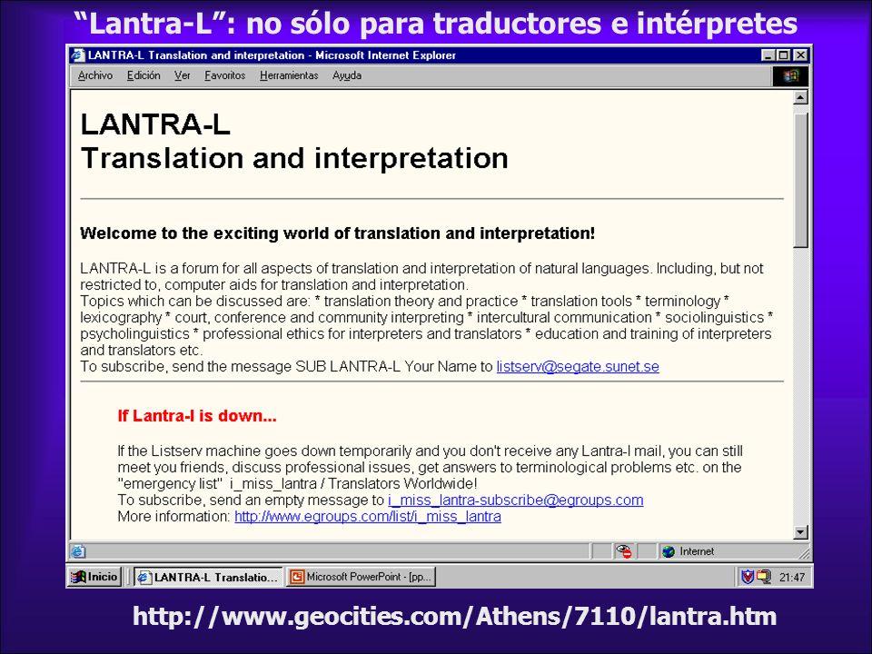 Lantra-L : no sólo para traductores e intérpretes