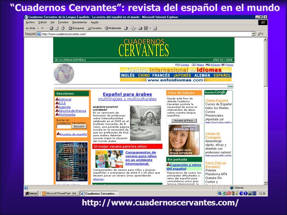 Cuadernos Cervantes : revista del español en el mundo