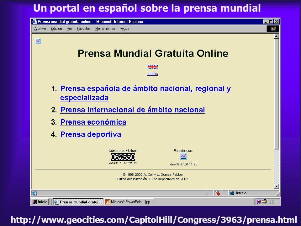 Un portal en español sobre la prensa mundial