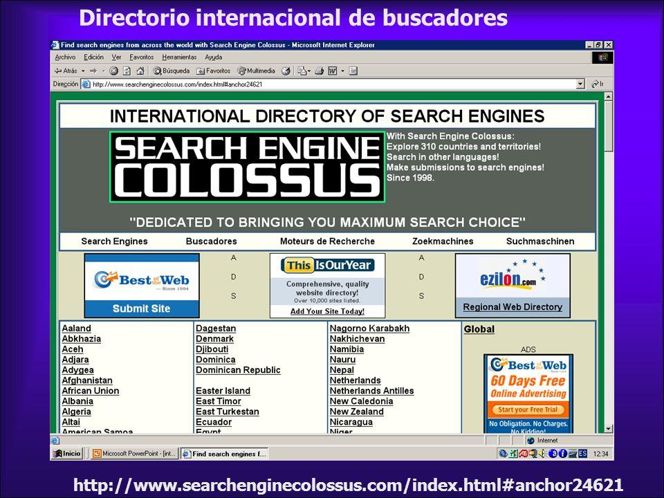 Directorio internacional de buscadores