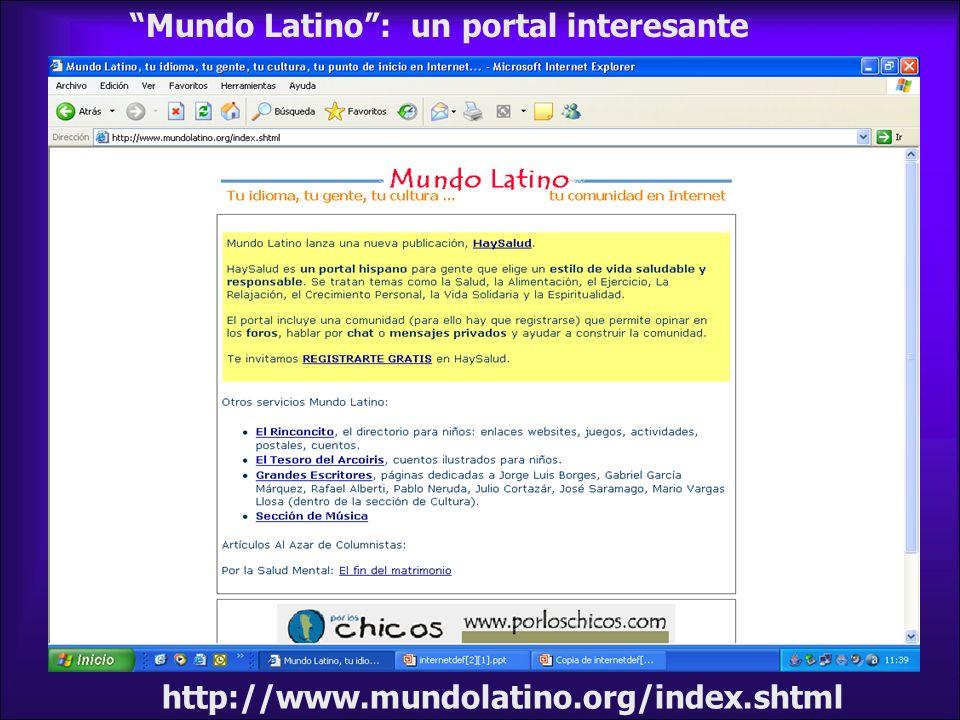 Mundo Latino : un portal interesante