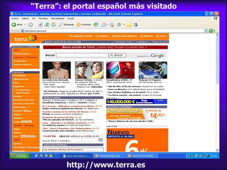 Terra : el portal español más visitado