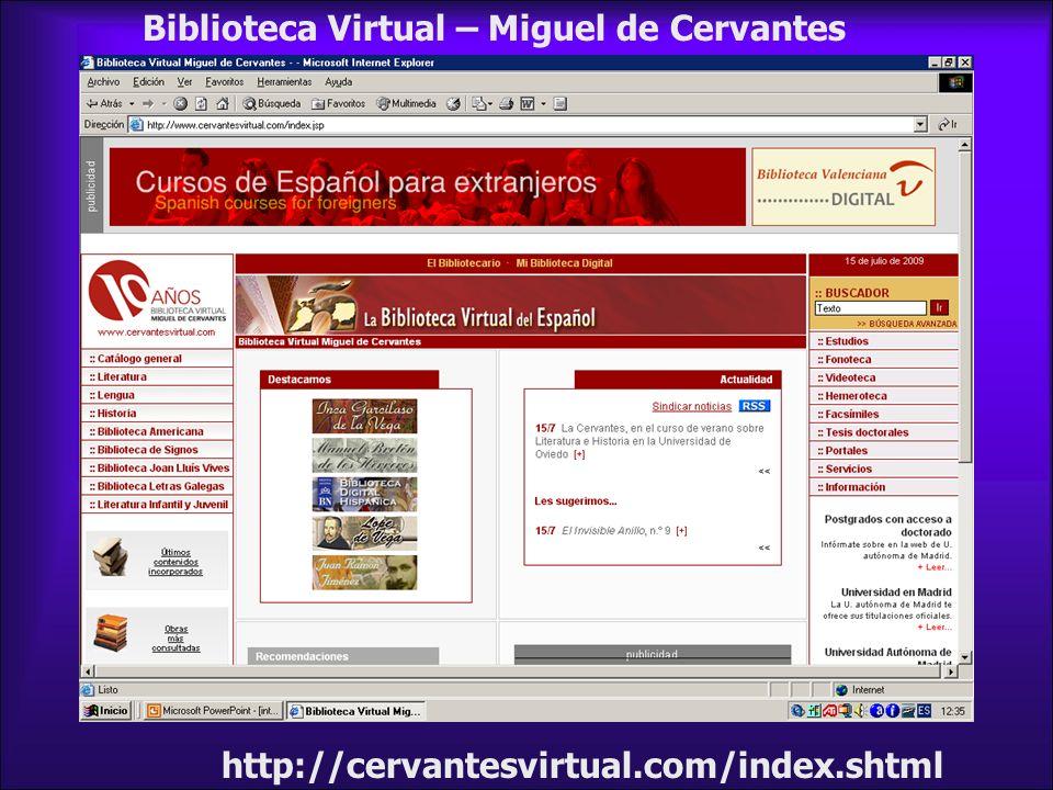 Biblioteca Virtual – Miguel de Cervantes