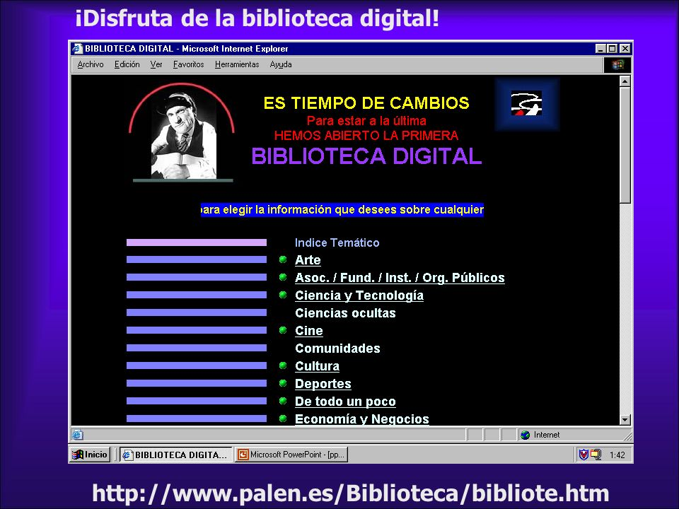 ¡Disfruta de la biblioteca digital!