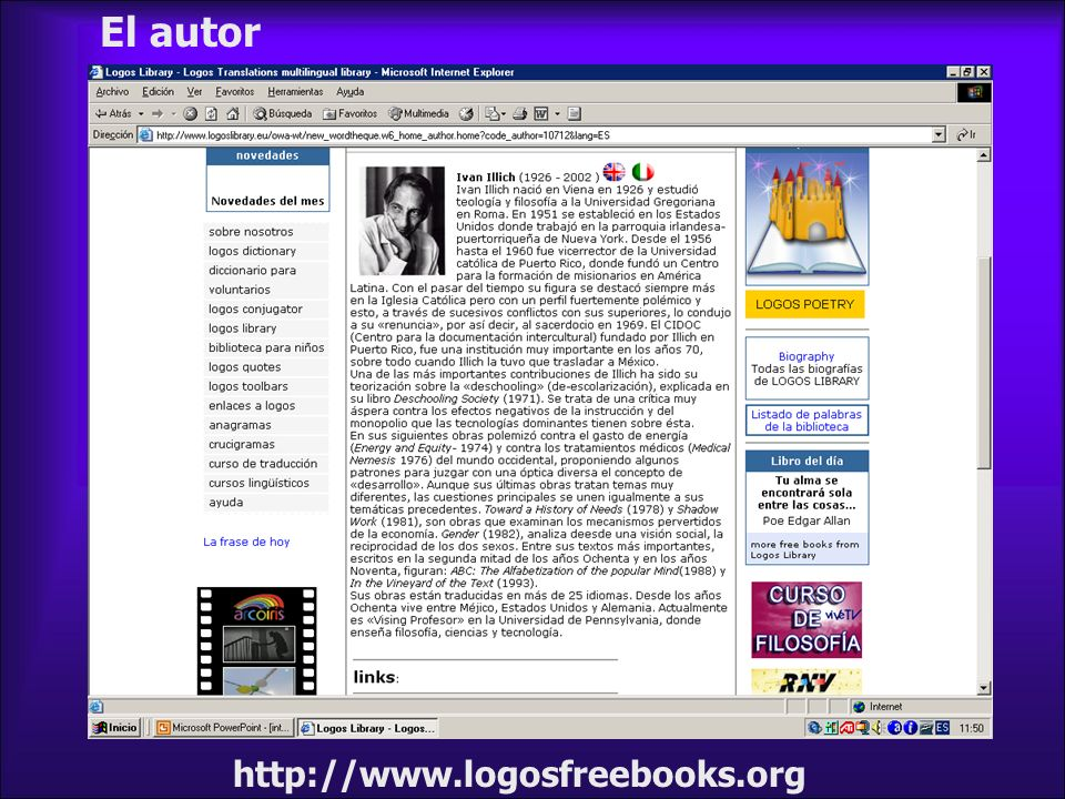 El autor http://www.logosfreebooks.org