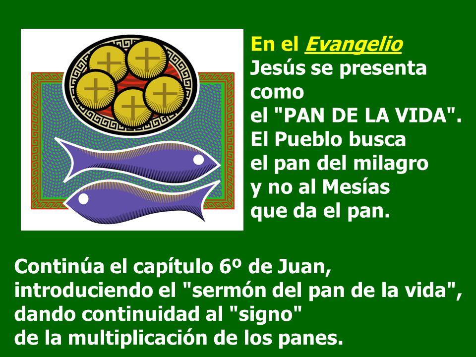 En el Evangelio Jesús se presenta como el PAN DE LA VIDA .