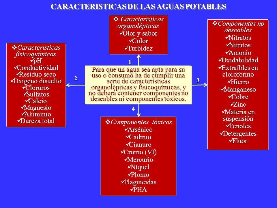 CARACTERISTICAS DE LAS AGUAS POTABLES
