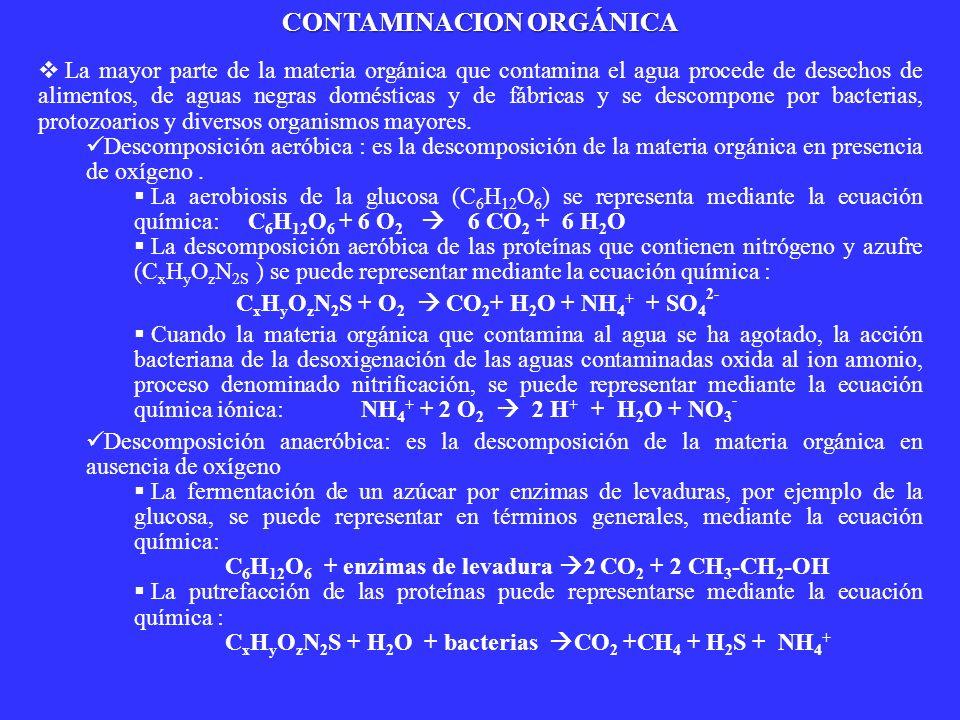 CONTAMINACION ORGÁNICA