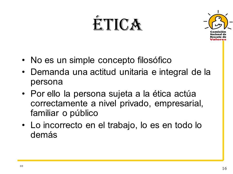 ÉTICA No es un simple concepto filosófico