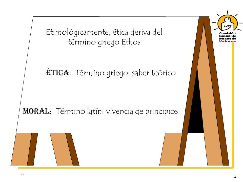 Etimológicamente, ética deriva del término griego Ethos