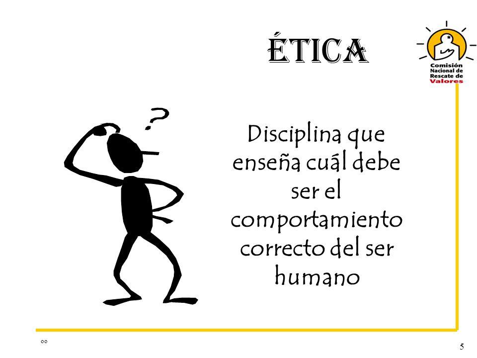 ÉTICA Disciplina que enseña cuál debe ser el comportamiento correcto del ser humano oo