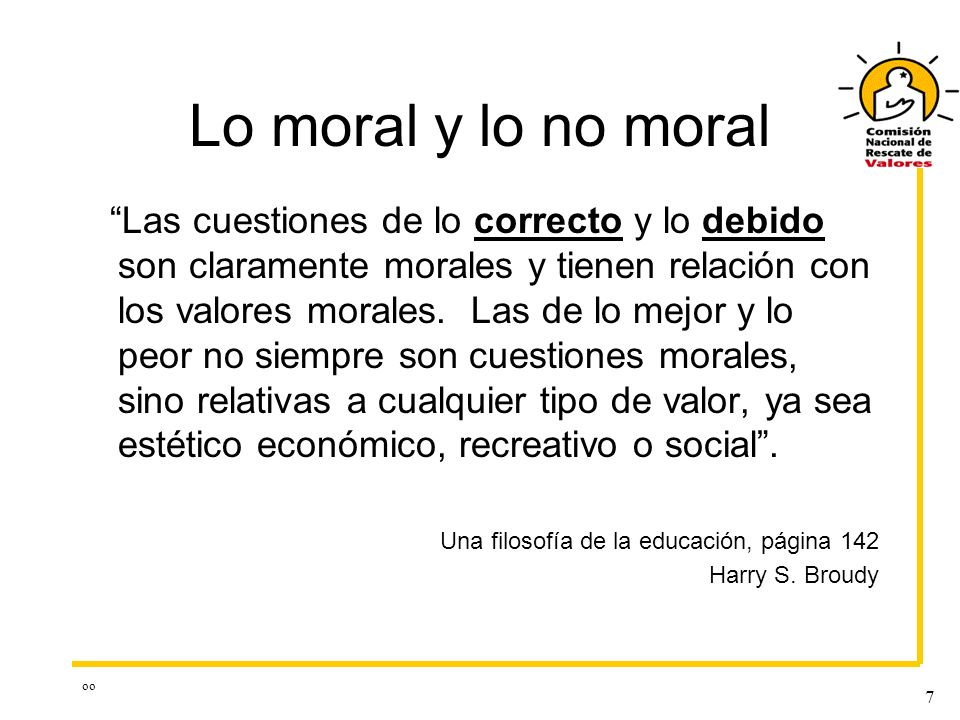 Lo moral y lo no moral