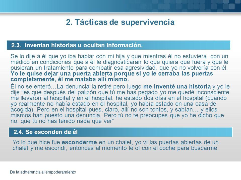 2. Tácticas de supervivencia