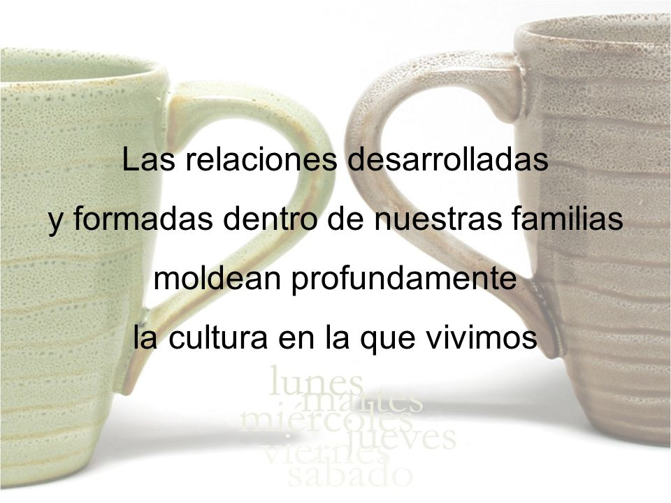 Las relaciones desarrolladas y formadas dentro de nuestras familias