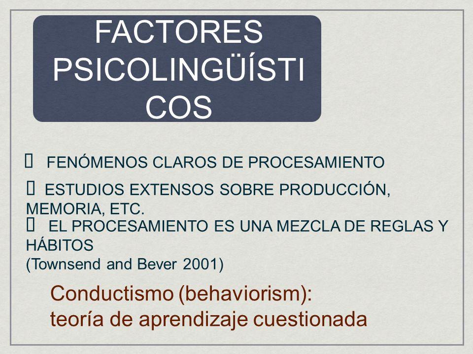 FACTORES PSICOLINGÜÍSTICOS