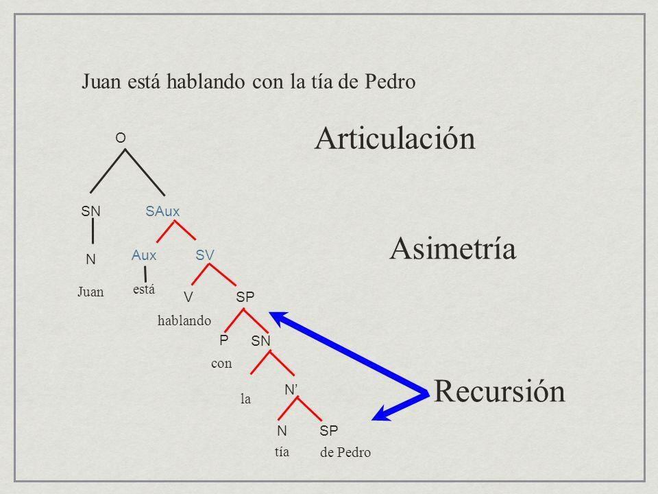 Articulación Asimetría Recursión